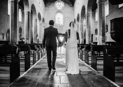 Sortie église mariage St Chef